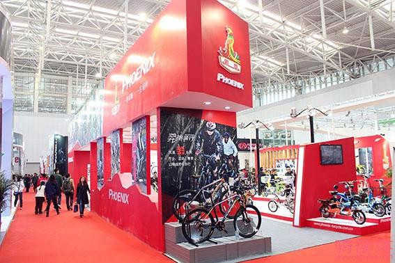 凤凰新款自行车亮相2015北方国际自行车展