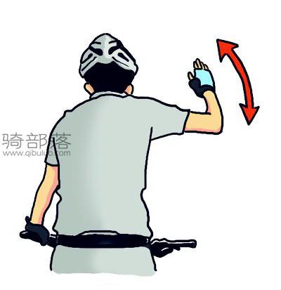 山地车编队骑行手势图解:加速前进