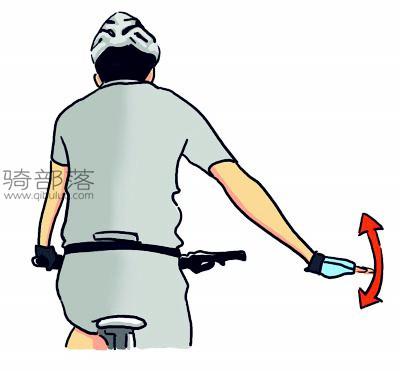 山地车编队骑行手势图解:路面颠簸