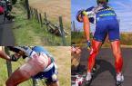 双腿被铁丝网划的血肉模糊,却拼上领奖台的他让人心酸...