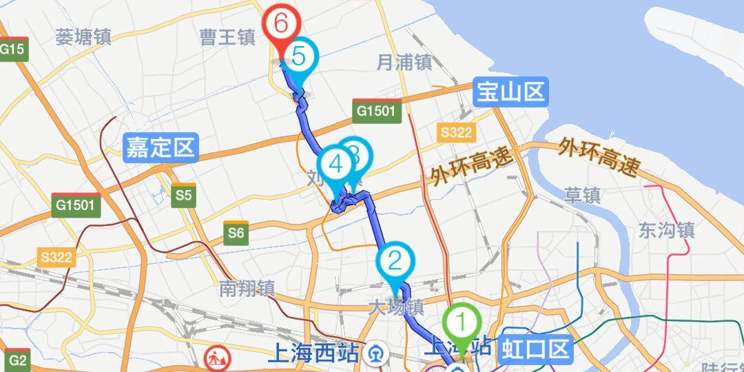 上海宝山寺骑行路线