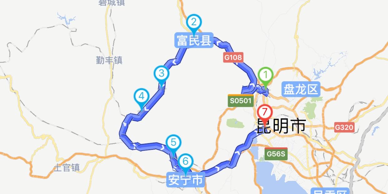 昆明青龙峡骑行路线