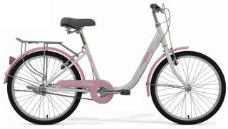 2018款美利达安琪24城市代步车多彩珍珠白