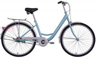 美利达和风单速自行车浅蓝色