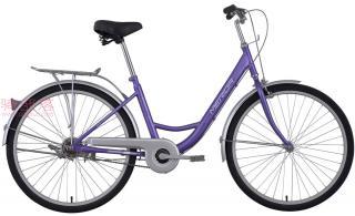 美利达和风单速自行车丁香紫