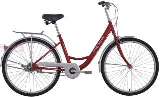 美利达和风单速自行车红色