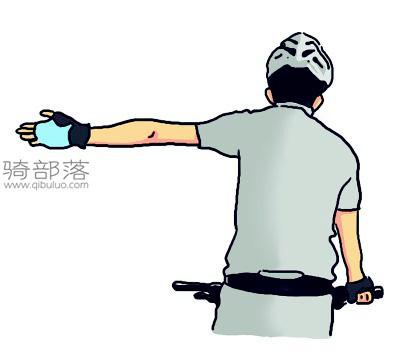 山地车编队骑行手势图解:转向