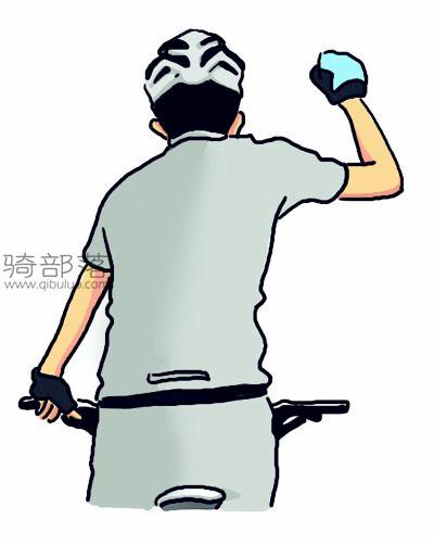 山地车编队骑行手势图解:停止前进