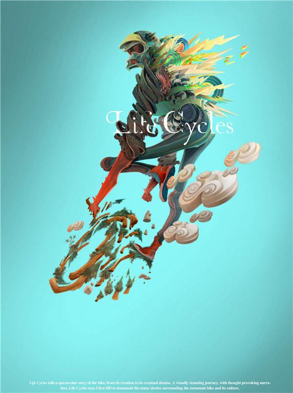 《山地自行车之旅》海报