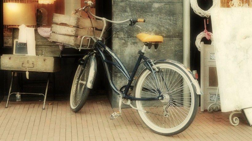 老式自行车唯美图片与情侣唯美意境图片分享 图4