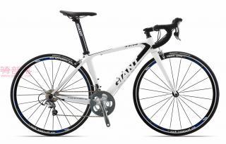 捷安特Giant TCR C3碳纤维自行车白月光/银