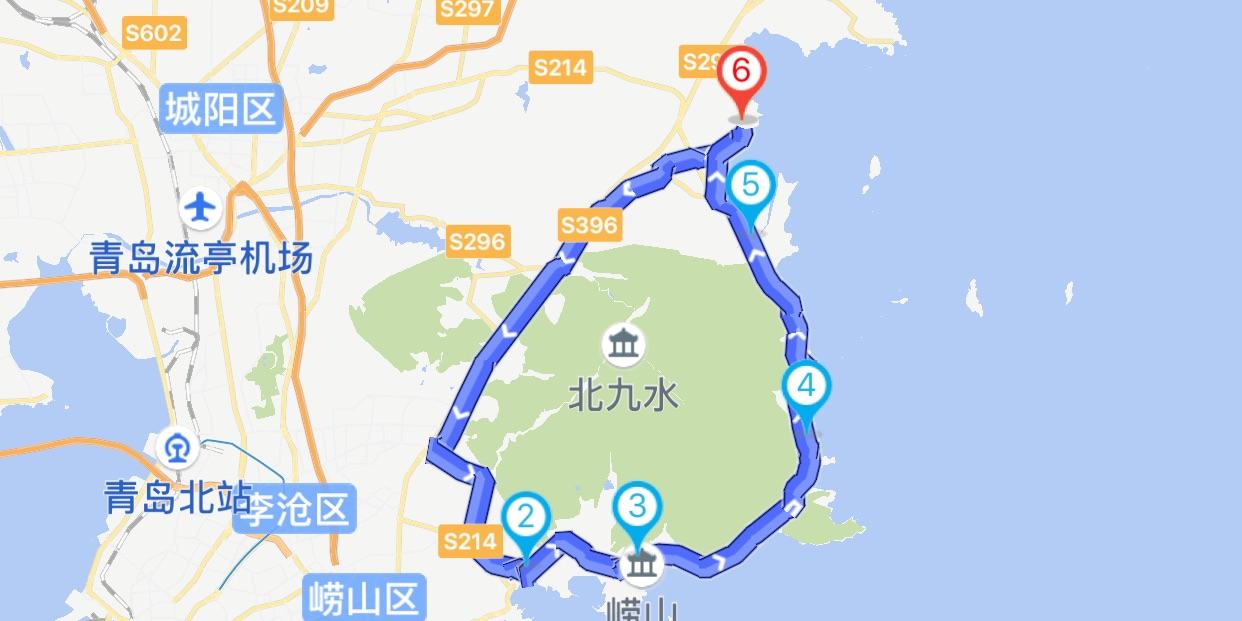 青岛环崂山骑行路线