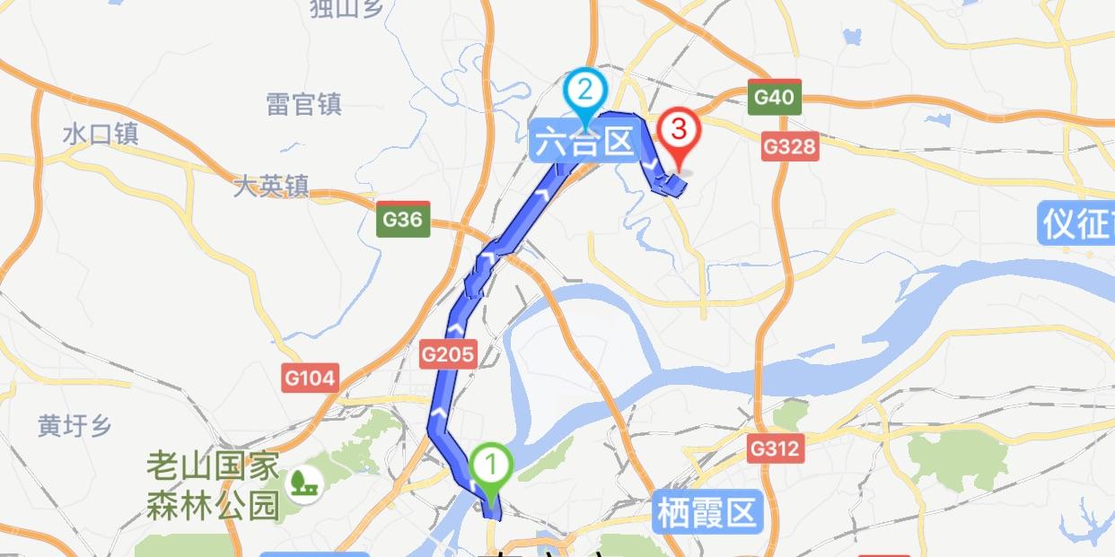 南京灵岩山骑行路线