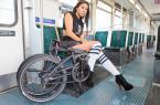 美女的这辆折叠自行车上班携带真方便! 图10